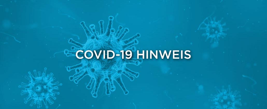 Covid-19 Hinweis